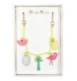 meri meri meri meri tropical enamel charm necklace