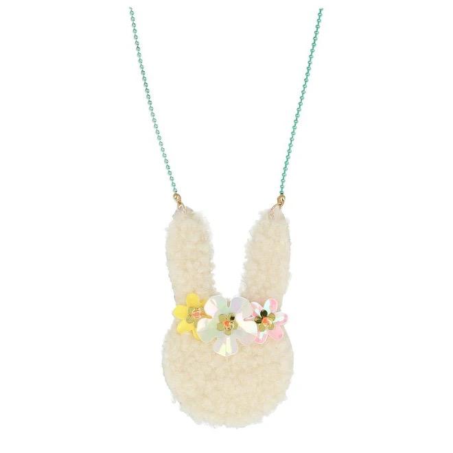 meri meri meri meri floral bunny necklace