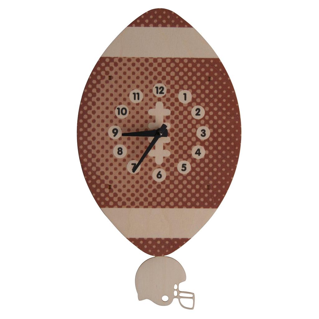 modern moose modern moose football pendulum clock