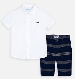 Mayoral mayoral shirt/shorts set