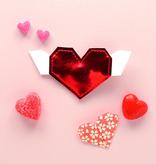 Hello shiso Hello shiso origami heart clip