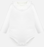 Mayoral mayoral lace collared onesie
