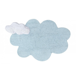 "lorena canals lorena canals washable puffy dream rug, blue, 3'7"" x 5'7"""