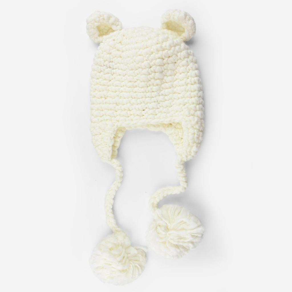the blueberry hill sam bear crocheted hat