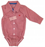 Frenchie Mini Couture small check bodysuit