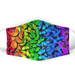 flutter gallery (faire) flutter gallery rainbow butterly face mask, adult