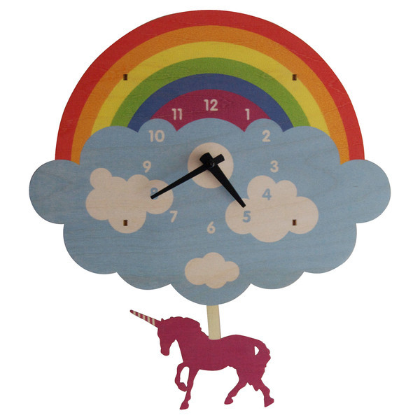 modern moose modern moose unicorn pendulum clock