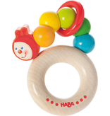 Haba haba clutching toy rainbow caterpillar