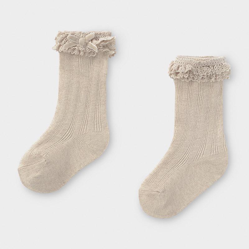 Mayoral mayoral ruffle trim socks