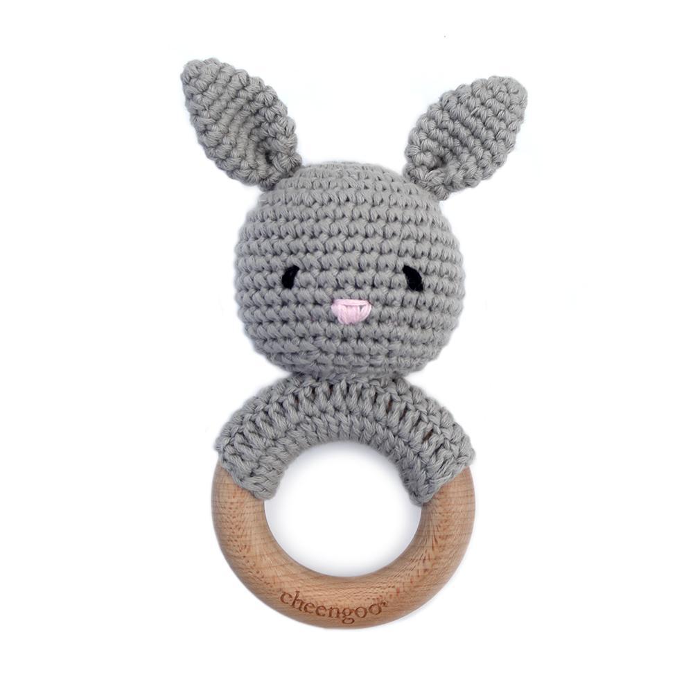 cheengoo (faire) hand crocheted teething rattle