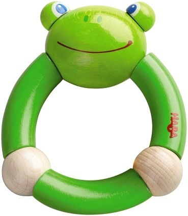 Haba haba clutching toy croaking frog