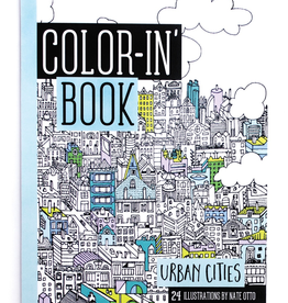 ooly travel size color-in book: urban cities