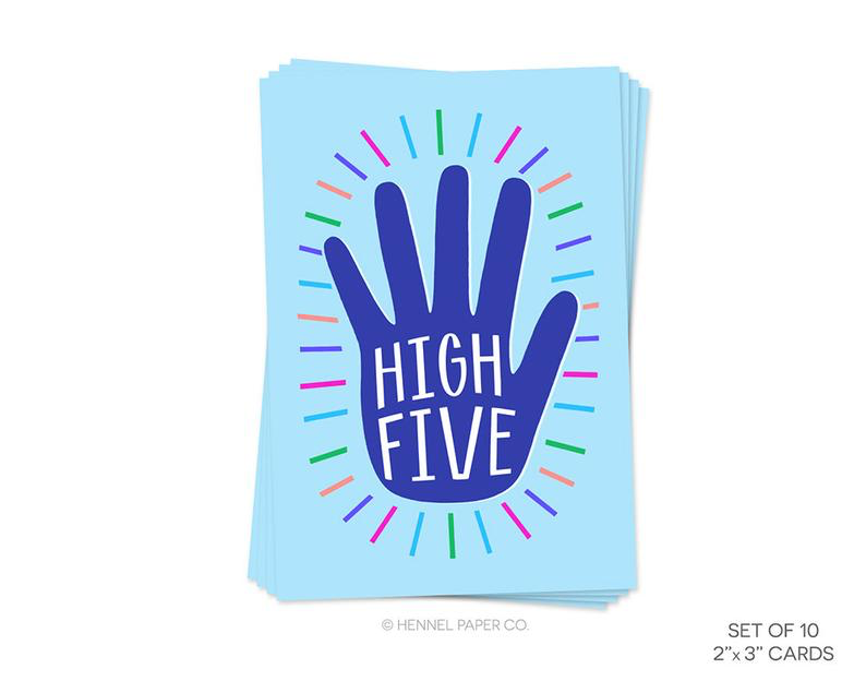 hachette high five note card - single