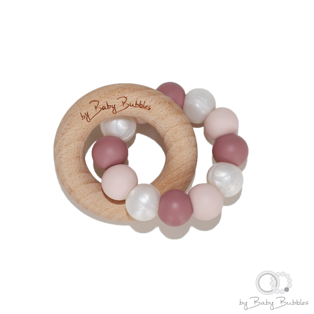 byBabyBubbles (faire) beech and silicone teether - P-61446