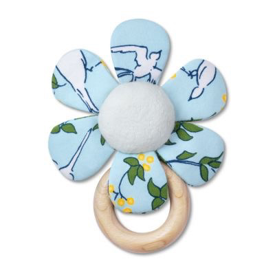 Apple Park lala curio teething rattle collection