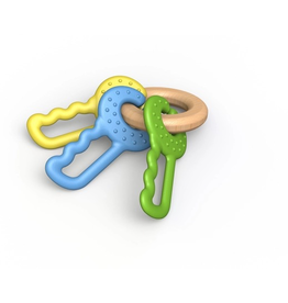 begin again (faire) green keys - clutching & teething toy