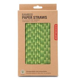 kikkerland paper straws, bamboo, box of 144