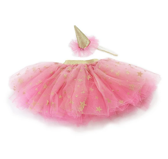 mon ami mon ami tutu skirt and party hat dress up set