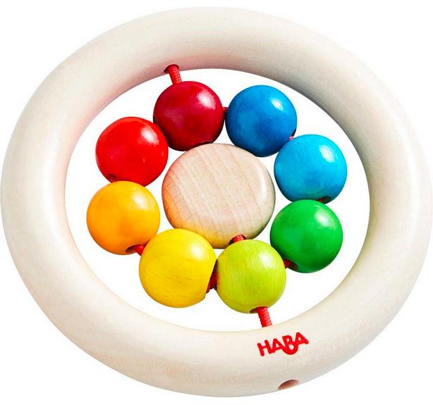 Haba haba clutching toy rainbow balls, 10m+