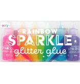 ooly rainbow sparkle glitter glue, set of 6