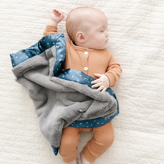saranoni saranoni satin border mini blanket