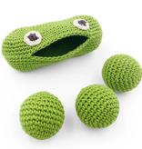 myum organic hand crocheted rattle buddy