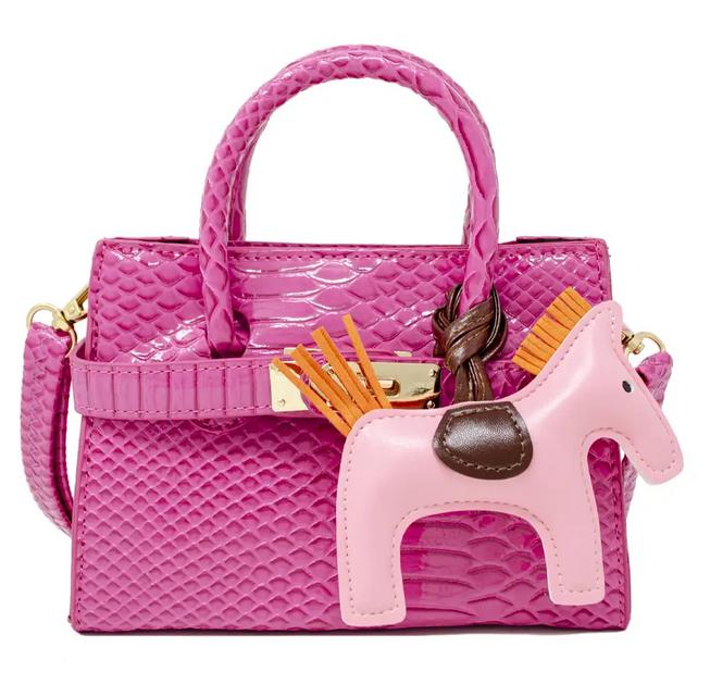 zomi gems shiny croc H bag
