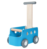 plan toys (faire) plantoys van walker, blue 10m+