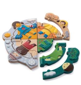 plan toys (faire) plantoys weather dress-up puzzle 2+