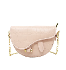 zomi gems mini croc saddle bag, pink