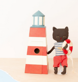 Maileg maileg sauveteur, tower with cat