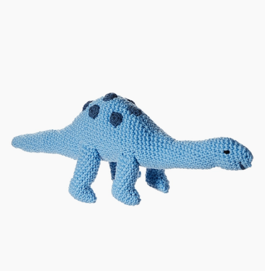 silk road bazaar crocheted animal rattle