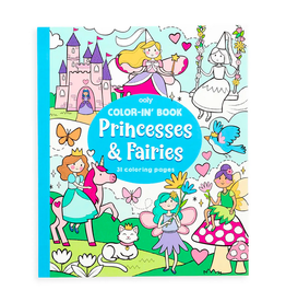 ooly color-in book: princesses & fairies