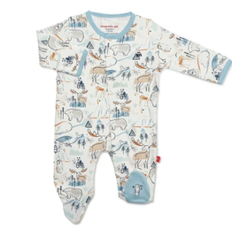 magnetic me magnetic me organic cotton footie