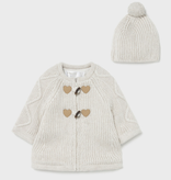 Mayoral mayoral sweater coat and hat set