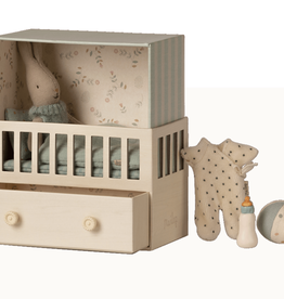Maileg maileg baby room with micro rabbit