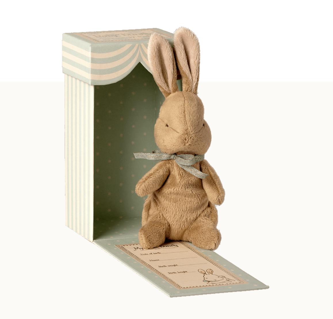 Maileg maileg my first bunny in box, light blue