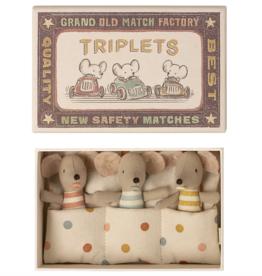 Maileg maileg baby mice, triplets in matchbox