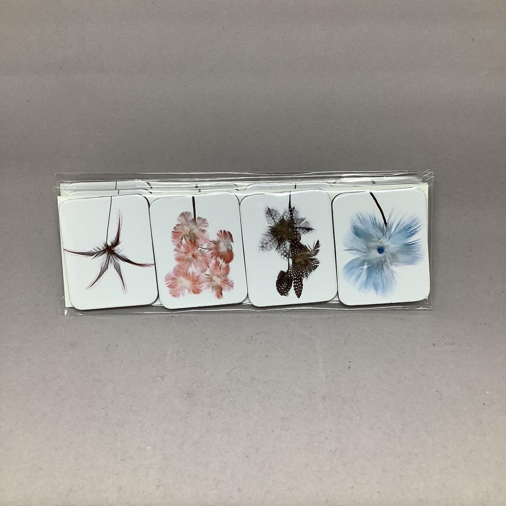 Custom Works Feather Flowers Magnet Set (4) - Glenda Nicholls