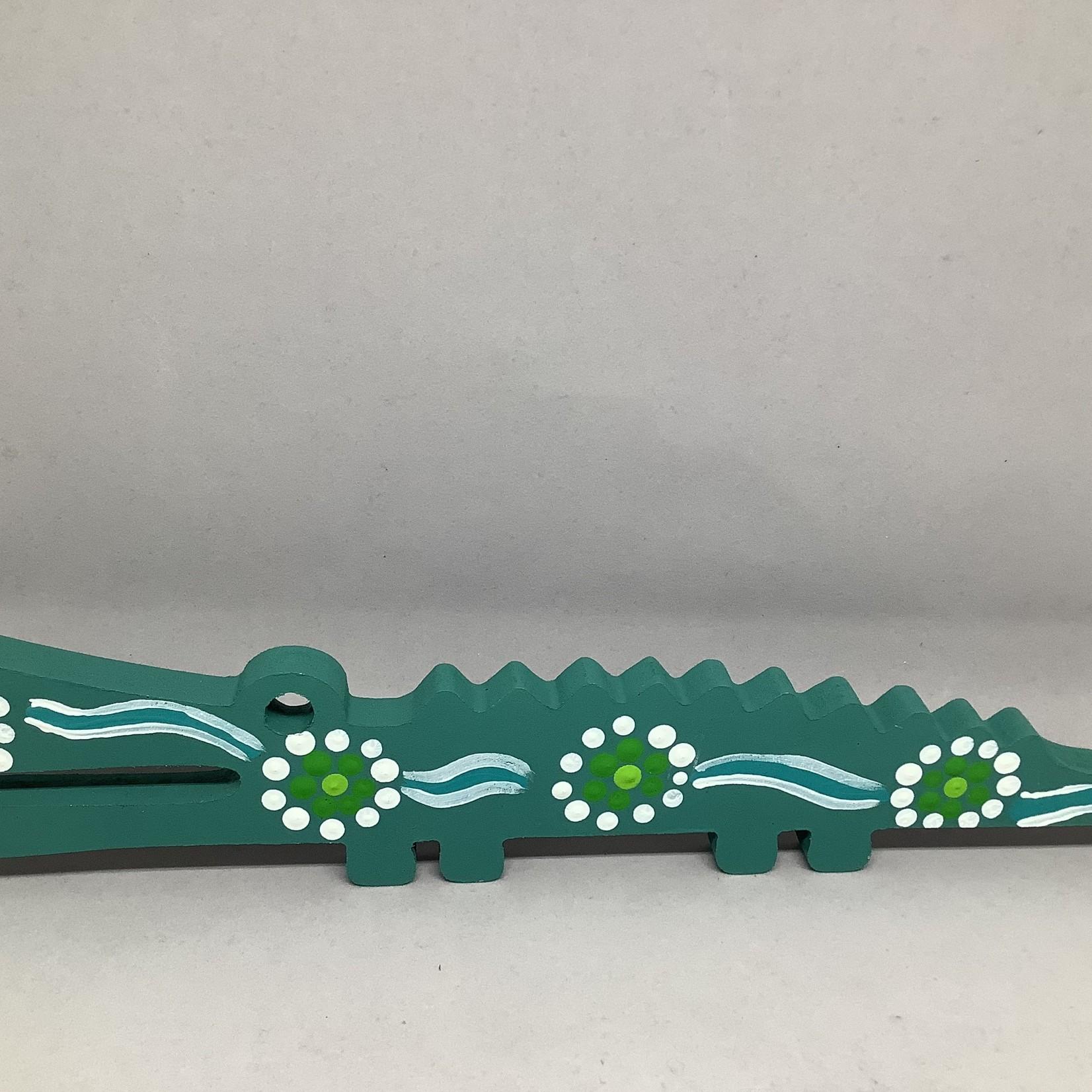 Rhuma Smedley Wooden Crocodile - Rhuma Smedley