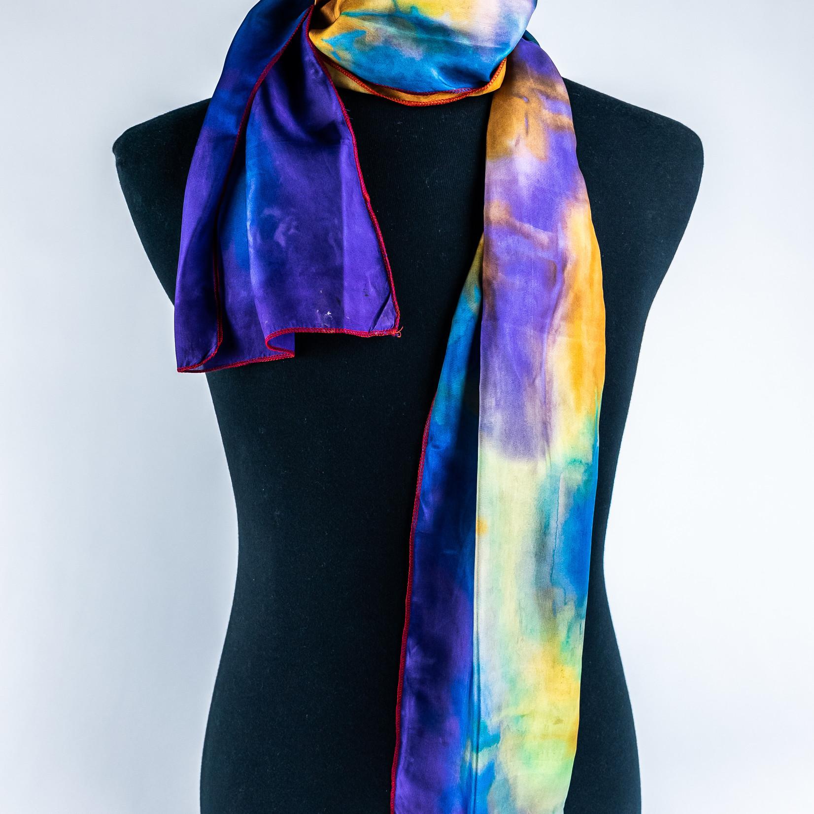 Miss Emily Aboriginal Art Hand Dyed Silk Scarf - Miss Emily