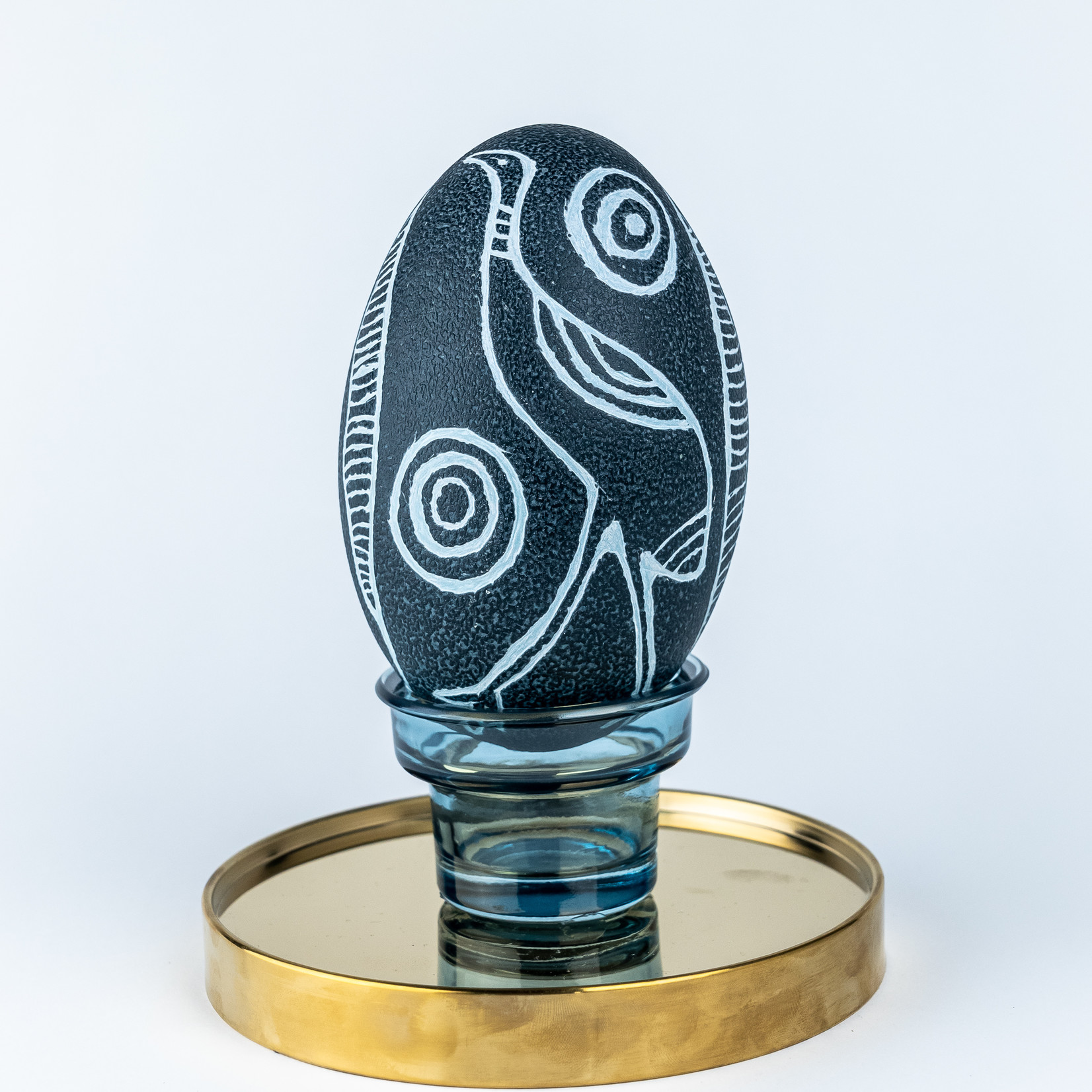 Brendan Kennedy Carved Emu Egg - Brendan Kennedy