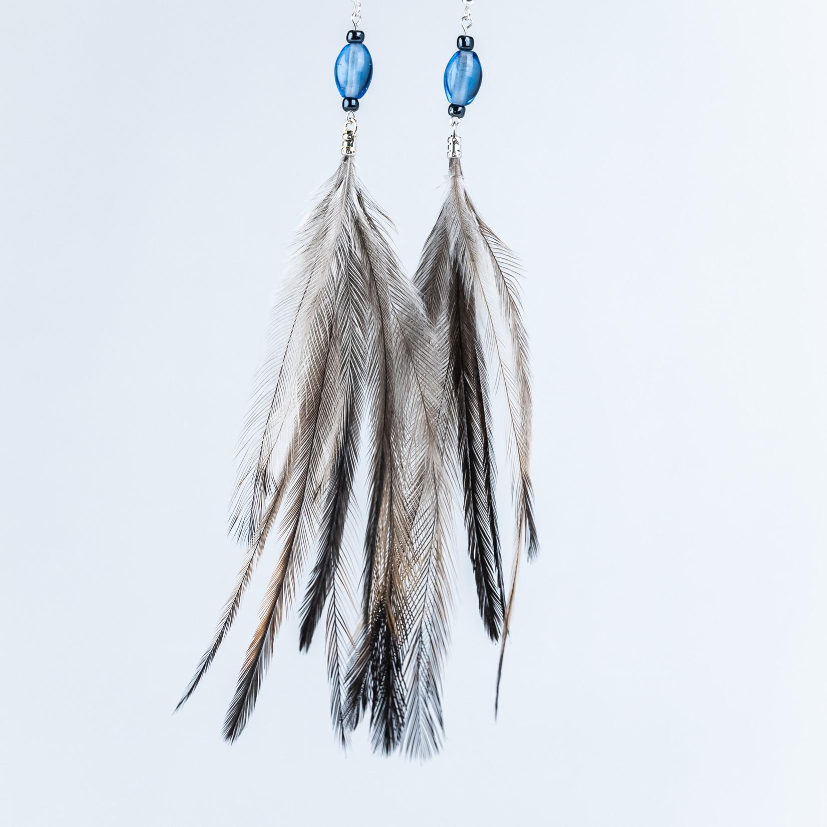 Marbeangrook Consulting Pty Ltd Emu Feather Earring - Marbeangrook