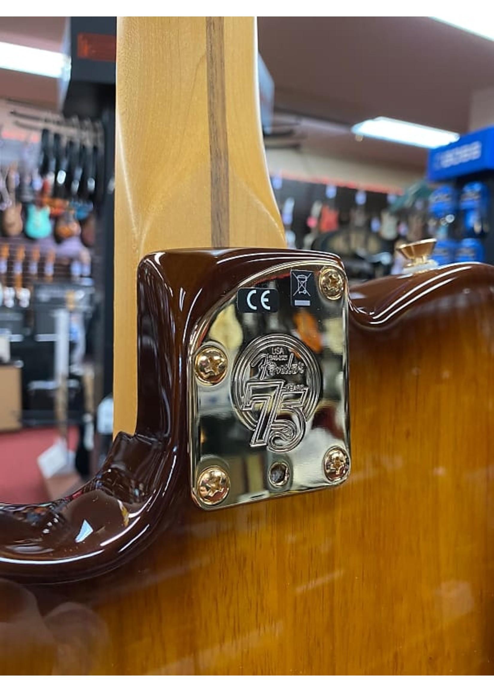 Fender Fender 75th Anniversary Commemorative Telecaster®, Maple Fingerboard, 2-Color Bourbon Burst