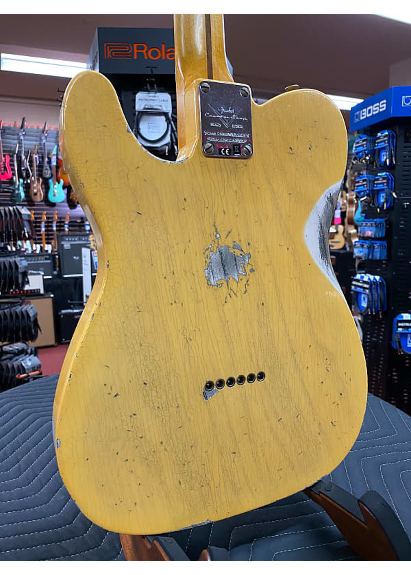 Fender Fender Custom Shop Limited Edition 70th Anniversary Broadcaster Heavy Relic - Aged Nocaster Blonde