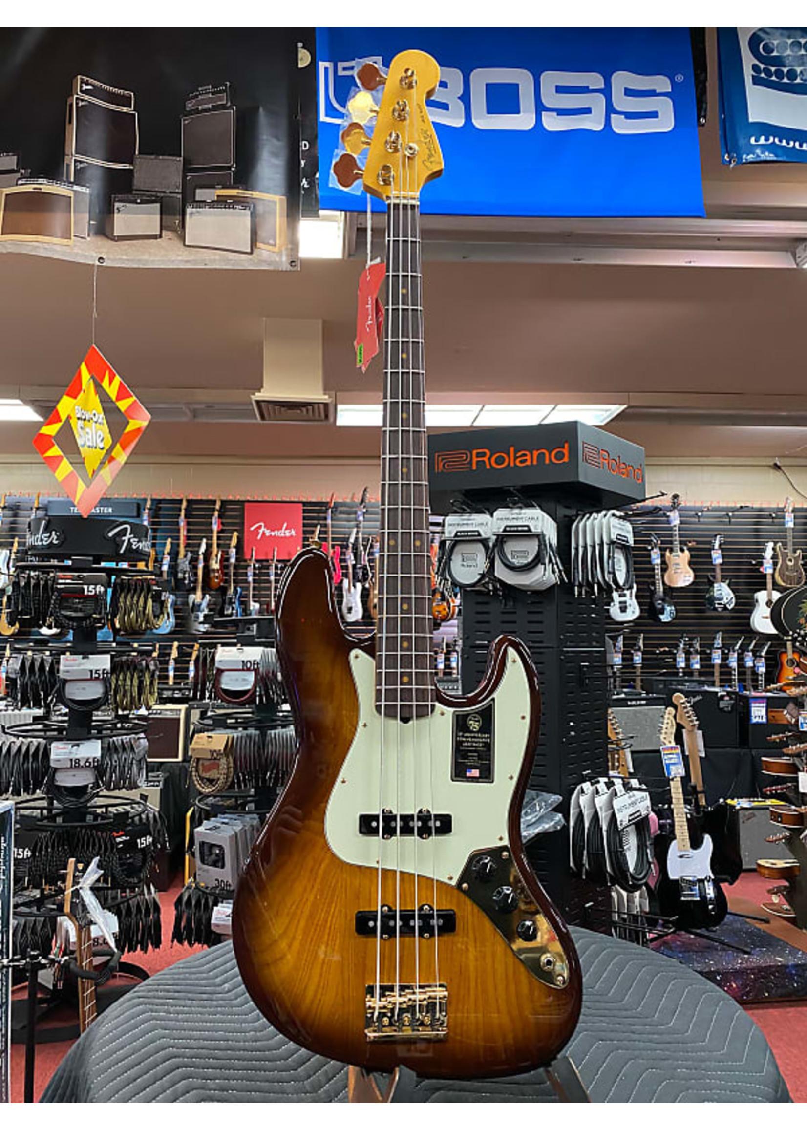 Fender Fender 75th Anniversary Commemorative Jazz Bass®, Rosewood Fingerboard, 2-Color Bourbon Burst