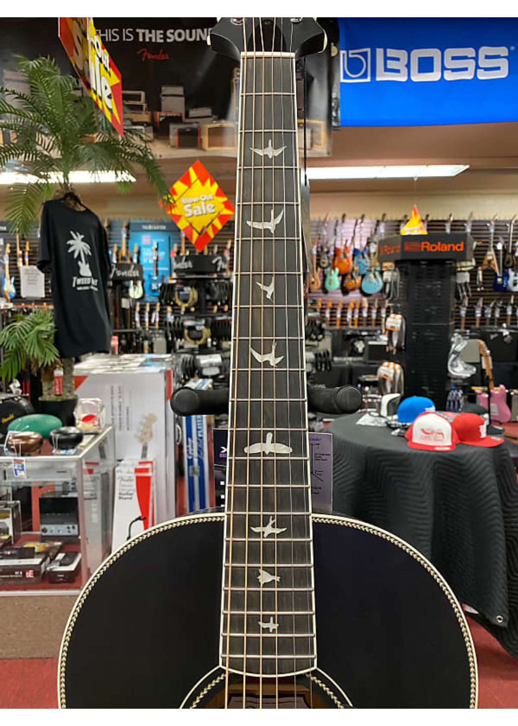 Paul Reed Smith PRS SE Parlor P20 Acoustic Guitar - Charcoal