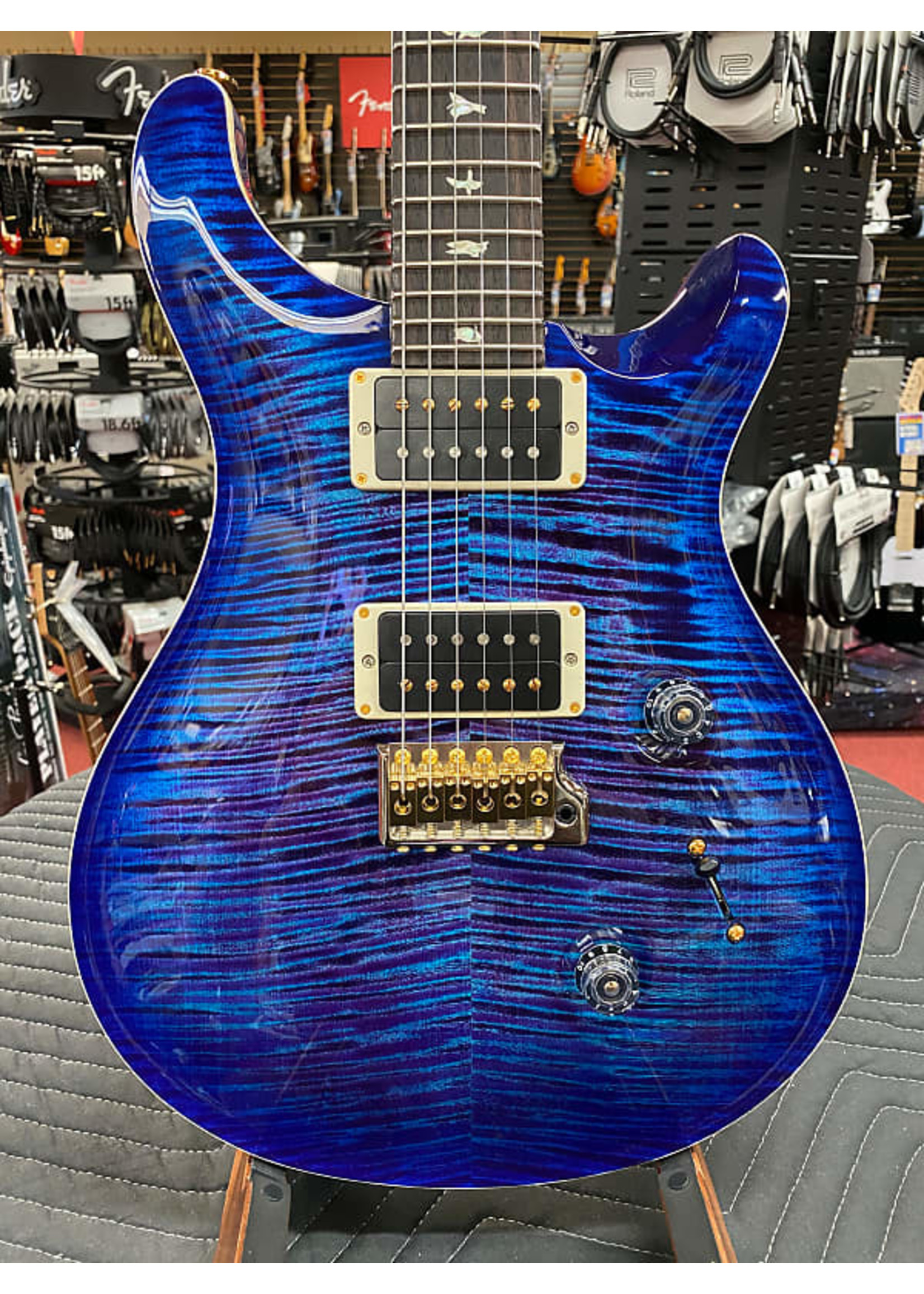 Paul Reed Smith PRS Custom 24 Electric Guitar with Pattern Thin Neck - Violet Blue Burst 10 Top