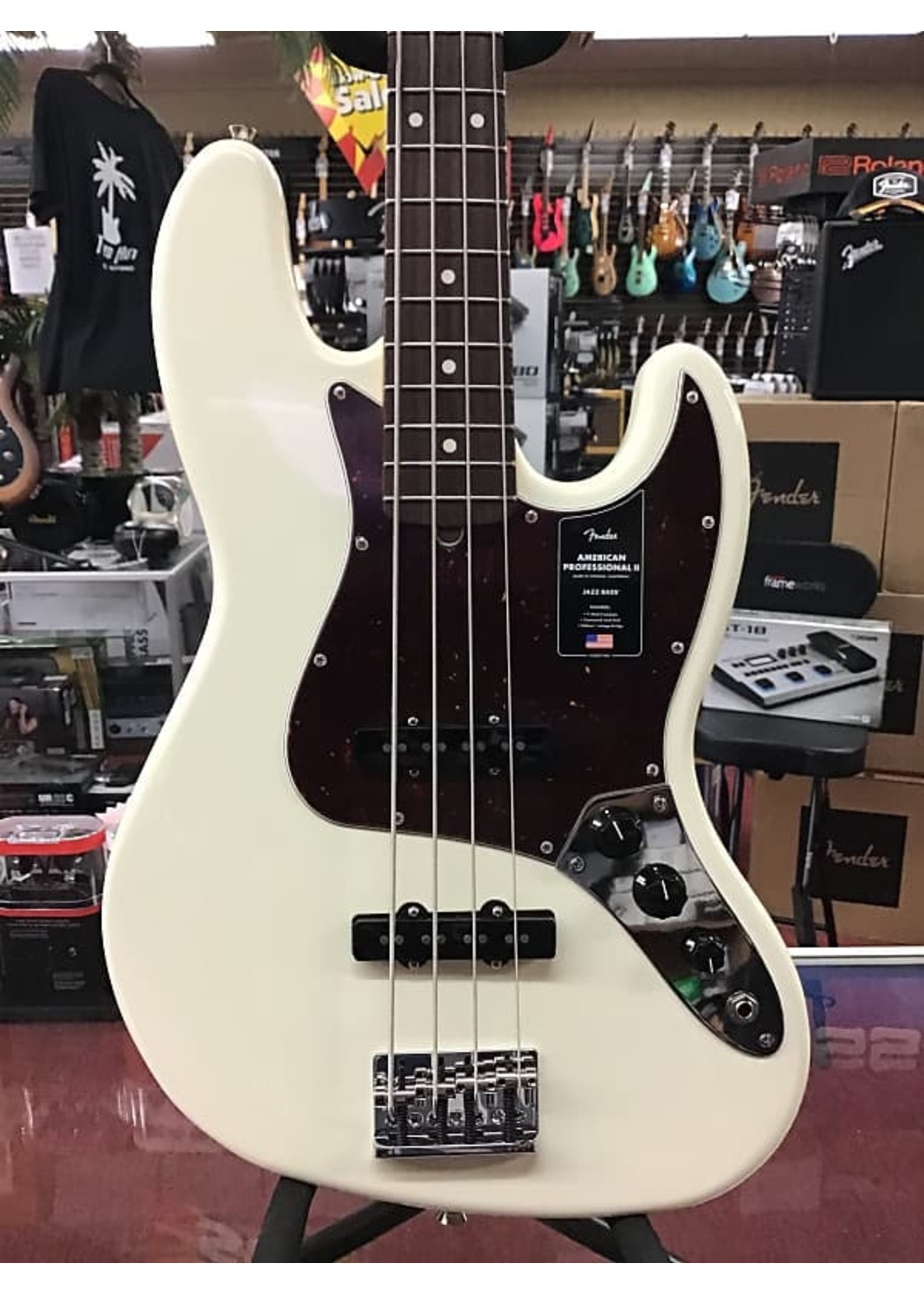 Fender Fender American Professional II Jazz Bass - Olympic White with Rosewood Fingerboard