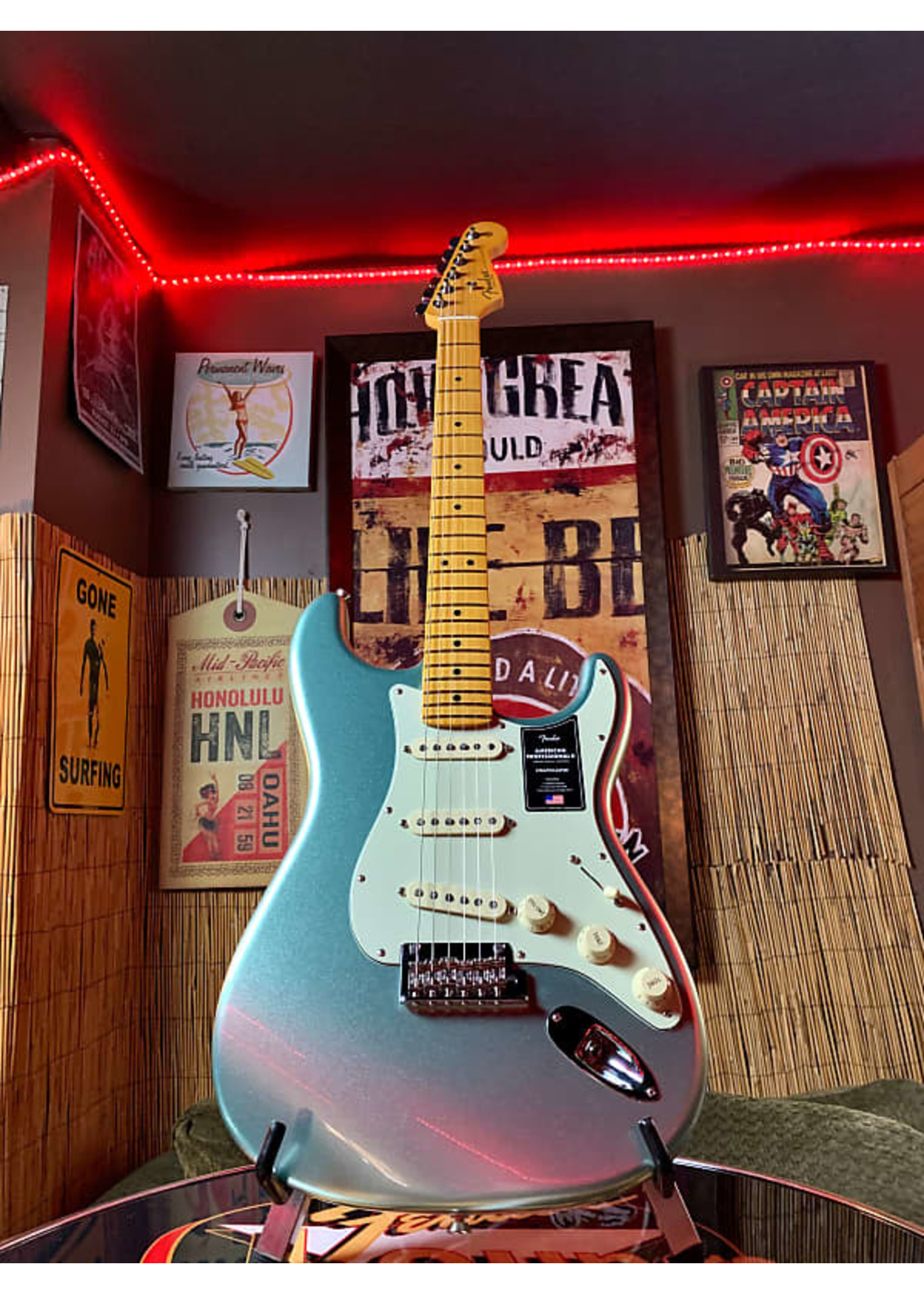 Fender Fender American Professional II Stratocaster Mystic Surf Green